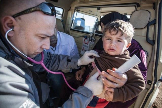 Polscy specjaliści z PCPM pomogli uchodźcom, fot: A. Rostkowski /