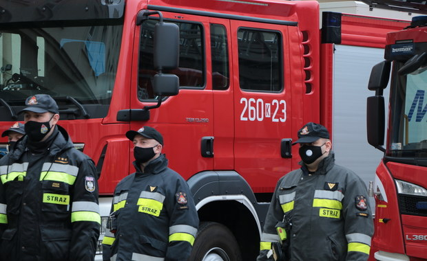Polscy strażacy pojechali na Słowację pomagać w testowaniu na obecność koronawirusa