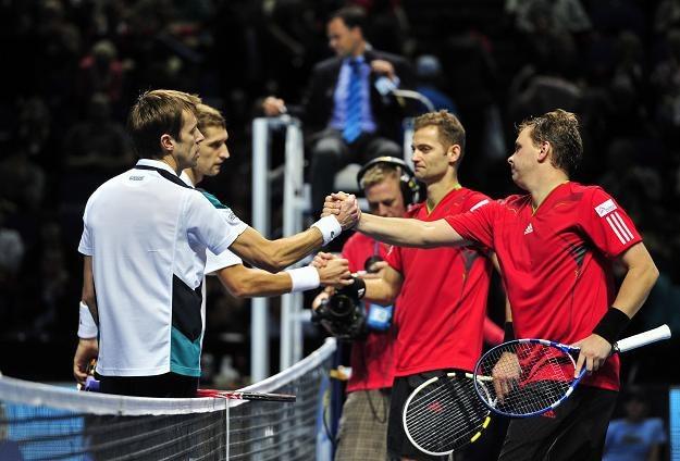Polscy tenisiści uznali wyższość Maksa Mirnego i Daniela Nestora /AFP