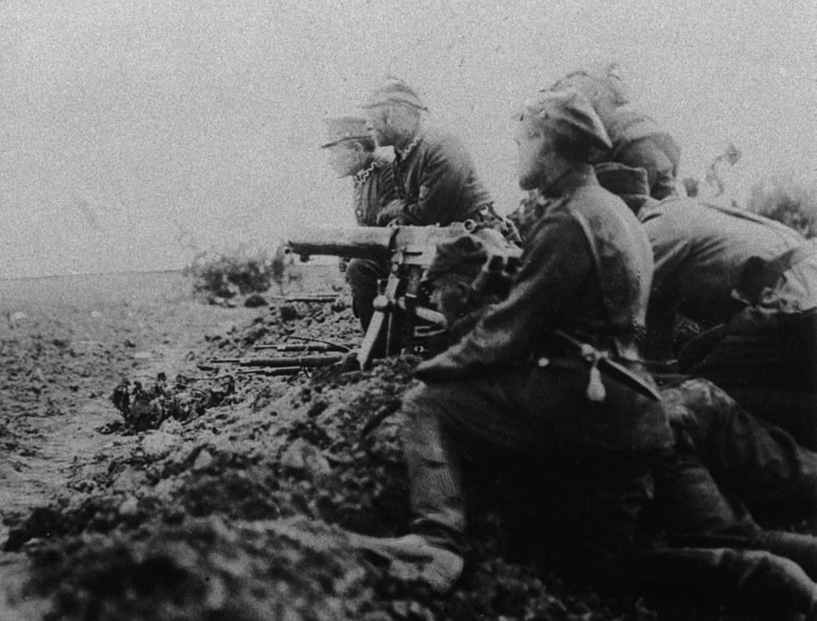 Polscy żołnierze w czasie bitwy / Archiwum  /PAP