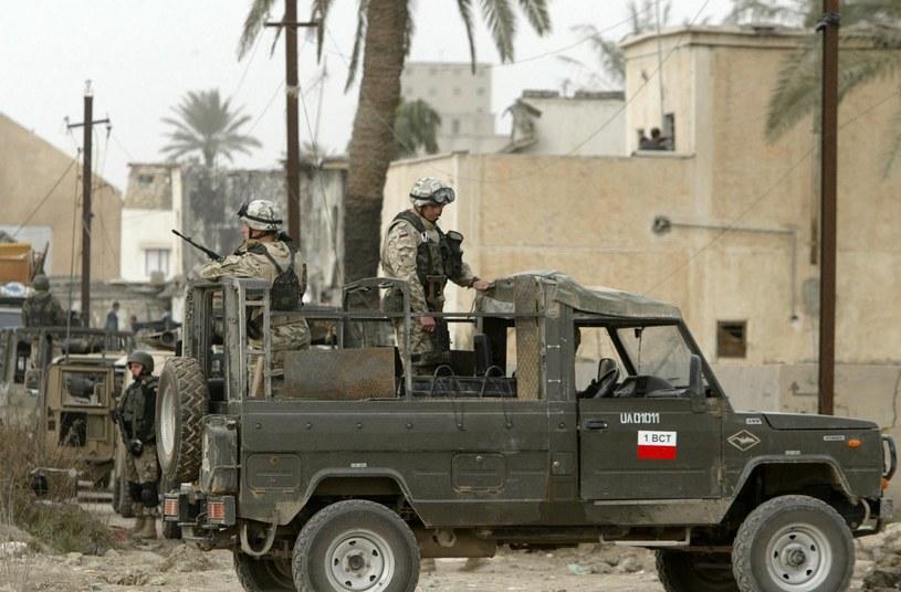 Polscy żołnierze w Iraku /AHMAD AL-RUBAYE /AFP