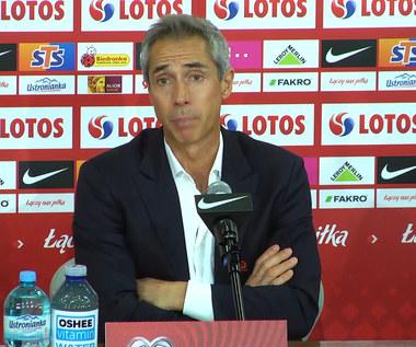 Polska-Anglia 1-1. Paulo Sousa podsumował mecze z Albanią, San Marino i Anglią. Wideo