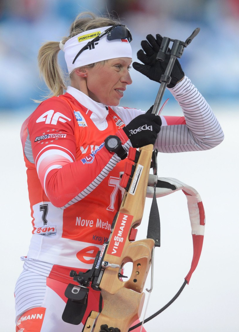 Polska biathlonistka Krystyna Pałka /AFP
