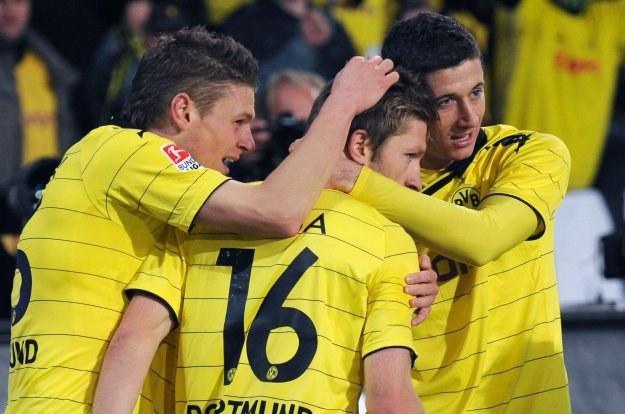 """""""Polska"""" Borussia: Piszczek, Błaszczykowski, Lewandowski. /AFP"""