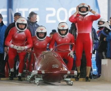 Polska czwórka bobslejowa /AFP