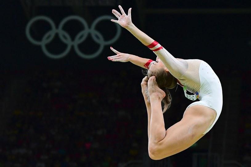 Polska gimnastyczka Katarzyna Jurkowska-Kowalska /AFP