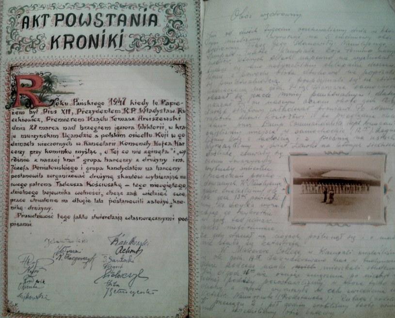 Polska kronika harcerska z Koji w Ugandzie została przysłana do Centrum Dokumentacji Zsyłek, Wypędzeń i Przesiedleń UP /Ewelina Karpińska-Morek /INTERIA.PL