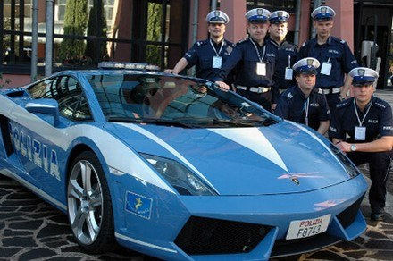 Polska policja i lambo /Policja