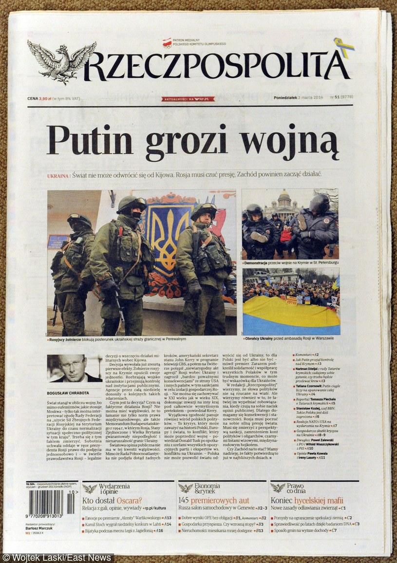 Polska prasa o sytuacji na Ukrainie /Wojtek Laski /East News
