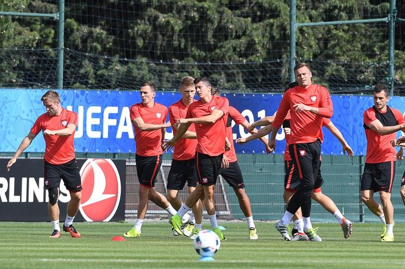 Polska reprezentacja na treningu /AFP