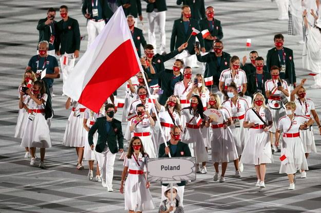 Polska reprezentacja podczas defilady w Tokio /RITCHIE B. TONGO /PAP