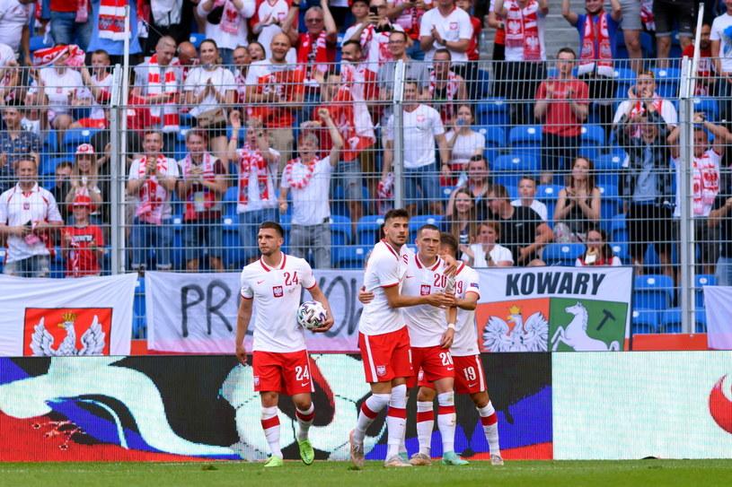Polska reprezentacja podczas meczu z Islandią /Jakub Kaczmarczyk /PAP