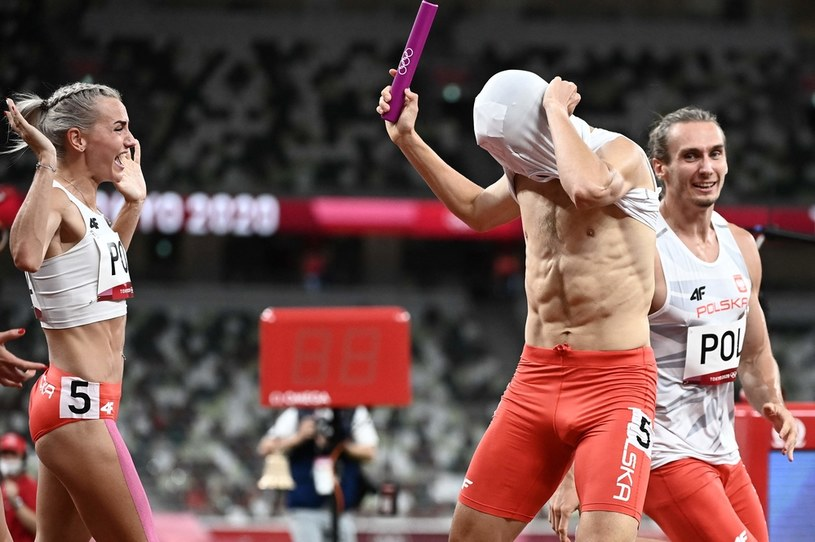Polska sztafeta mieszana 4x400 metrów. Tokio 2020 /JEWEL SAMAD /AFP