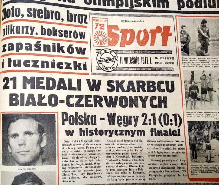 """""""Polska - Węgry 2-1 w historycznym finale"""" - pisał Sport /sport /"""