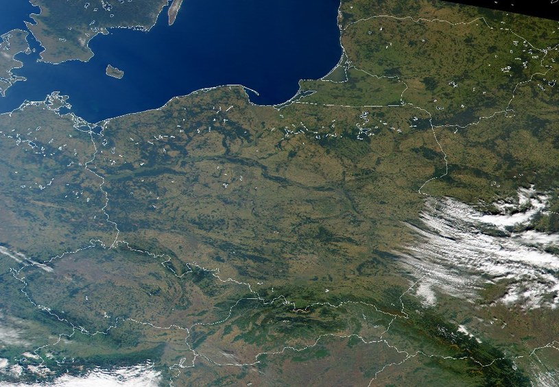 Polska z kosmosu, Polska w kosmosie /NASA