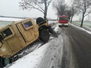 Polska zima pokonała amerykańskiego Humvee