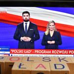 """""""Polski Ład"""": Natalia Nitek-Płażyńska i Jakub Banaszek poprowadzili konferencję PiS. Kim są?"""