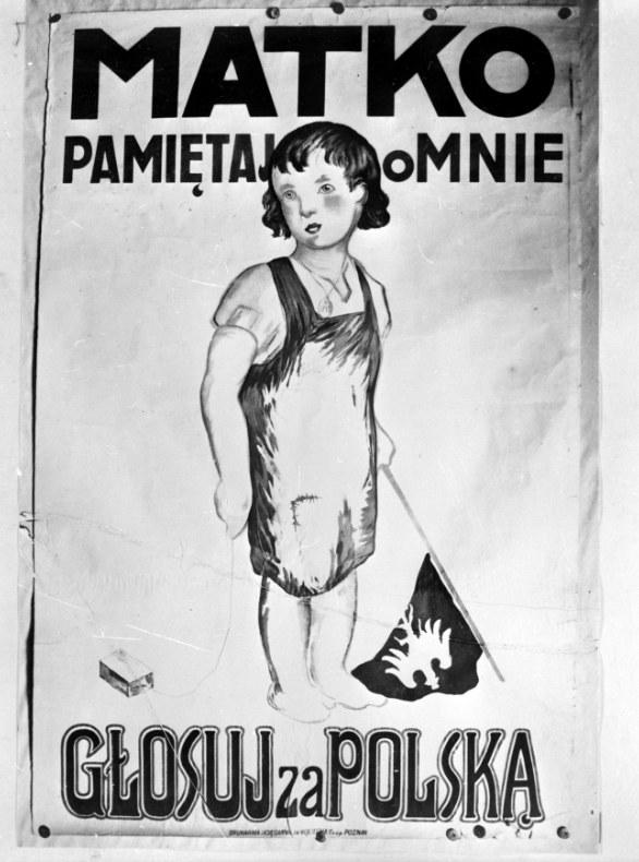Polski plakat propagandowy wydany w okresie plebiscytu na Śląsku /Z archiwum Narodowego Archiwum Cyfrowego