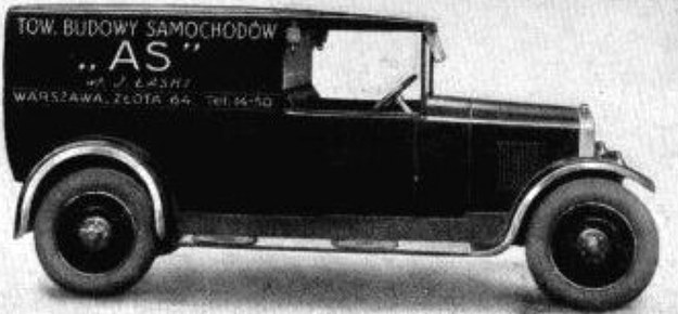 Polski samochód firmy AS na podwoziu typu S2 - konstrukcja inżyniera Aleksandra Libermana /Archiwum Tomasza Szczerbickiego