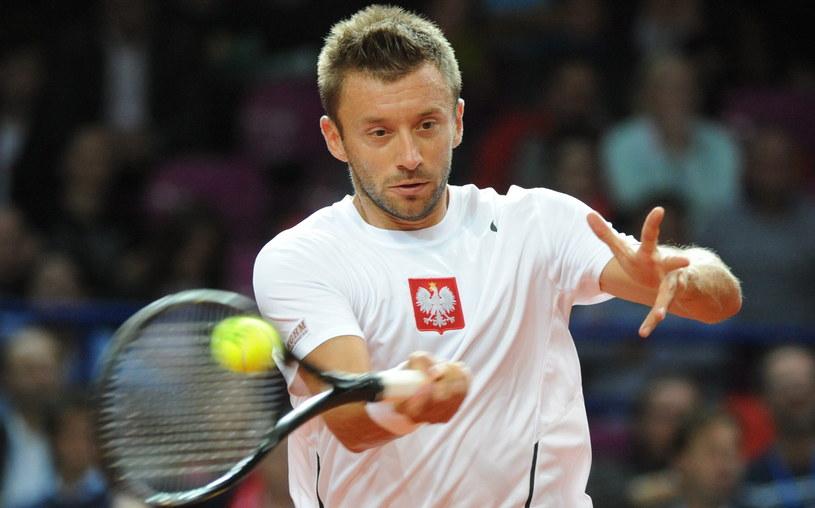 Polski tenisista Michał Przysiężny /Bartłomiej Zborowski /PAP