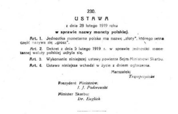 Polski złoty świętuje dzisiaj setne urodziny /RMF