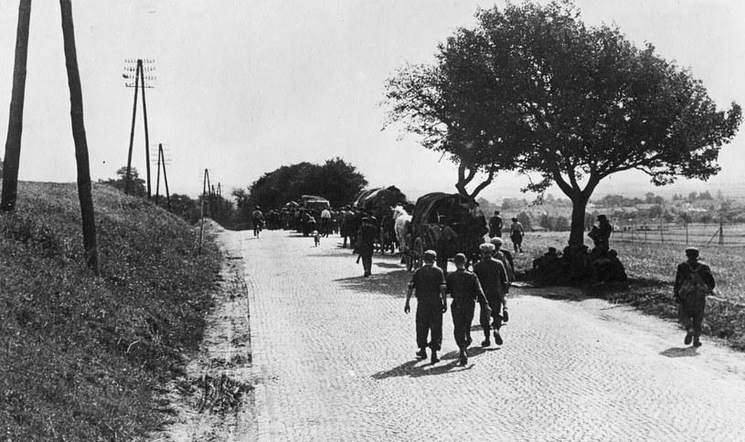 Polskie drogi w 1946 roku /Getty Images/Flash Press Media