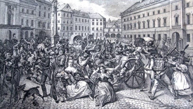 Polskie dzieci uprowadzane przez carskich żołnierzy w Warszawie (źródło: domena publiczna) /INTERIA.PL