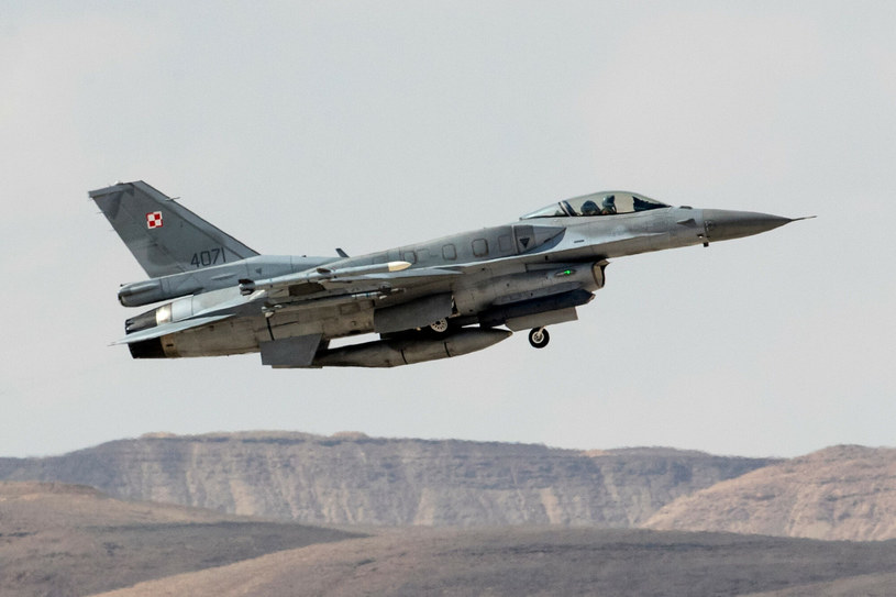 Polskie F-16 bojowo debiutowały na Bliskim Wschodzie /JACK GUEZ / AFP /East News