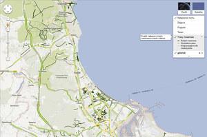Polskie mapy Google z funkcją wskazówek dla rowerystów
