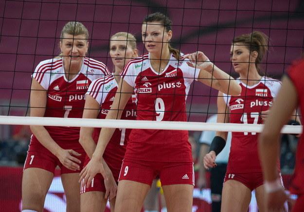 Polskie siatkarki (od lewej): Małgorzata Glinka-Mogentale, Anna Werblińska, Maja Tokarska i Katarzyna Skowrońska-Dolata /Grzegorz Michałowski /PAP