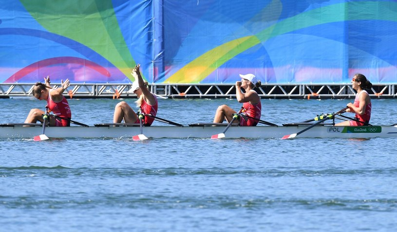 Polskie wioślarki podczas występu na igrzyskach w Rio /AFP