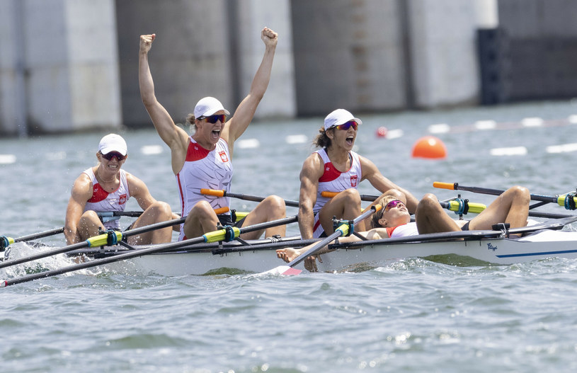 Polskie wioślarki zdobyły pierwszy medal dla Polski na igrzyskach w Tokio /Iwanczuk/Sport/REPORTER /East News