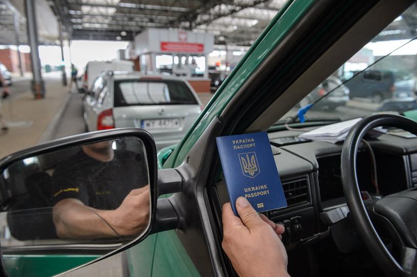 Polsko-ukraińskie drogowe przejście graniczne w Dołhobyczowie /Wojciech Pacewicz /PAP