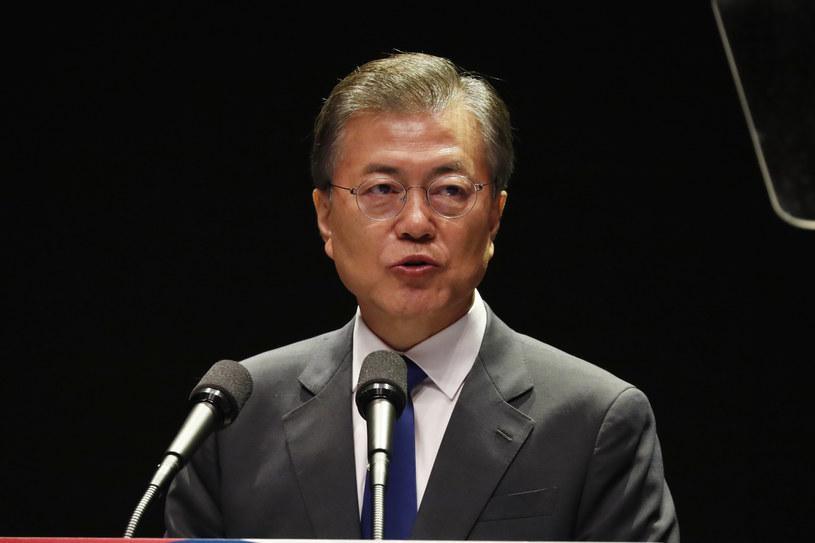 Południowokoreański prezydent Mun Dze In /JEON HEON-KYUN /AFP