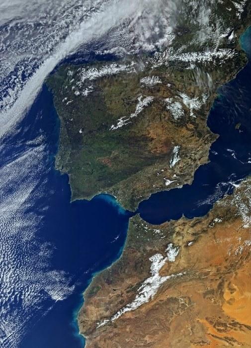 Półwysep Iberyjski i północna Afryka okiem Sentinela-3A /materiały prasowe