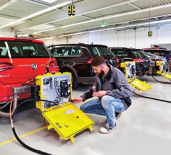 pomiary emisji spalin /Volkswagen