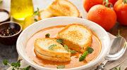 Pomidorowa z grzankami