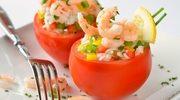 Pomidory faszerowane ryżem z krewetkami