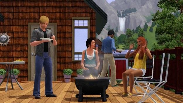 Pomimo śniegu za oknem, Simsy pozwolą ci zorganizować grill party z prawdziego zdarzenia /Informacja prasowa