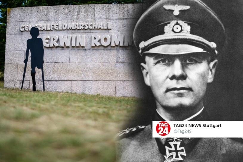 Pomnik Erwina Rommla /Twitter /