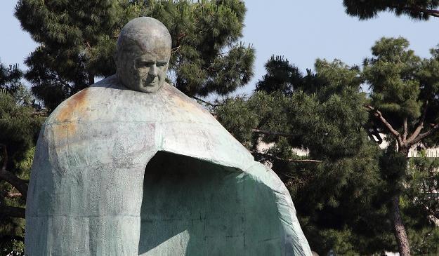 Pomnik Jana Pawła II odsłonięty w Rzymie /Agencja FORUM