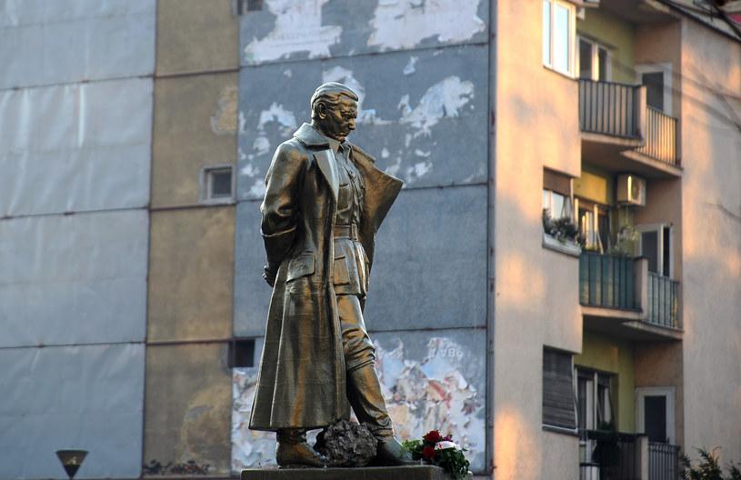 Pomnik Josipa Broza Tito w Skopje /AFP