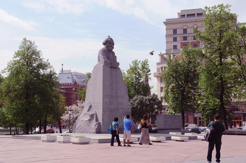 Pomnik Karola Marksa; Plac Teatralny w Moskwie; zdj. ilustracyjne /Wojtek Laski /East News