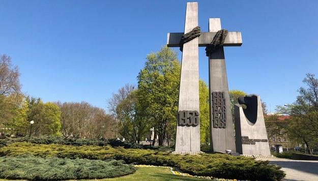 Pomnik Ofiar Czerwca w Poznaniu /Mateusz Chłystun /RMF FM