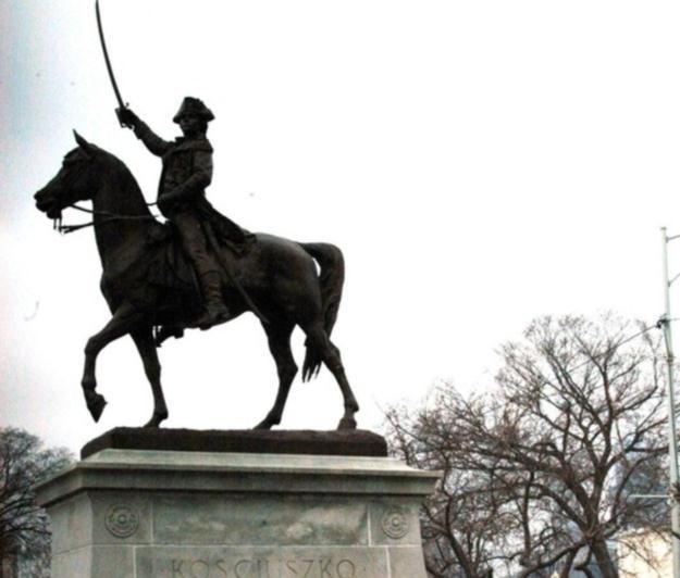 Pomnik Tadeusza Kościuszki w Chicago / fot. P. Batorowicz /Reporter