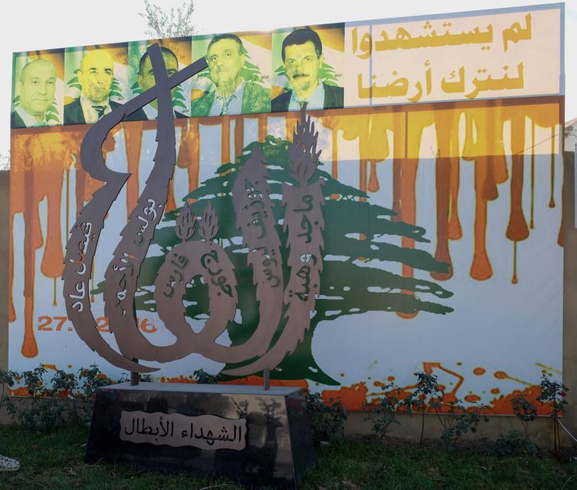 Pomnik upamiętniający tragedię w Al-Qaa, stojący nieopodal kościoła pod wezwaniem świętego Eliasza /Paweł Krawczyk /INTERIA.PL