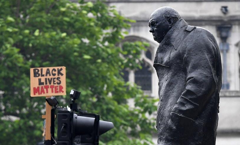 Pomnik Winstona Churchila w Londynie / ANDY RAIN    /PAP