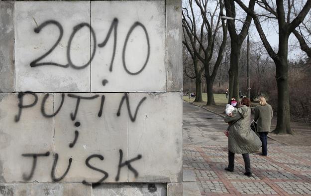 Pomnik żołnierzy radzieckich w parku Skaryszewskim/fot. Paweł Supernak /PAP