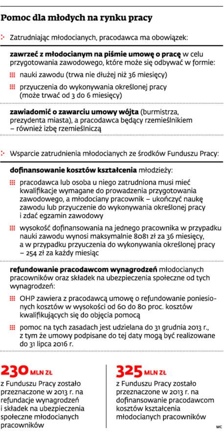 Pomoc dla młodych na rynku pracy /Dziennik Gazeta Prawna