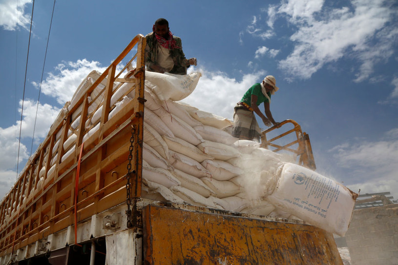 Pomoc Światowego Programu Żywnościowego w Jemenie /Mohammed Hamoud /Getty Images